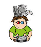 Gamer playin video game isolated icon design. Illustration  graphic Stock Photography