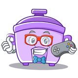 Gamer rice cooker character cartoon Stock Photo