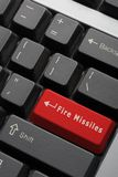 Gamer's Keyboard. Modified computer keyboard with Fire Missiles on Enter key Royalty Free Stock Photo