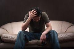 gamer smutny Fotografia Royalty Free