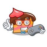 Gamer sponge cake mascot cartoon. Vector illustration Stock Image