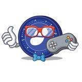 Gamer Status coin mascot cartoon. Vector illustration Stock Photo