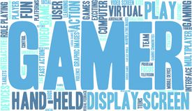 Gamer Word Cloud stock illustration