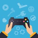 Gamerkonzeptvektor Stockbild