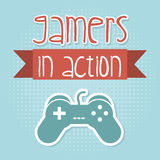 Gamers in action Royalty Free Stock Images