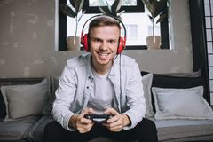 Gamers bawić się przyjęcia fotografia stock