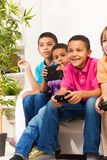 Gamers boys Royalty Free Stock Image