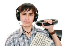 Gamers d'adolescent Photos libres de droits