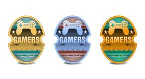 Gamers Fan Club Stickers Royalty Free Stock Photos