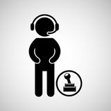 Gamers play icon Stock Images