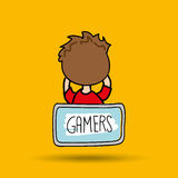 Gamers play icon Royalty Free Stock Photo