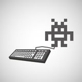 Gamers play icon Stock Image
