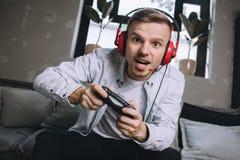 Gamers speelpartij royalty-vrije stock afbeeldingen