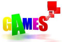 Games 3D Royalty Free Stock Images