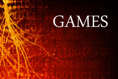 Games. Abstract Background in Red and Black Royalty Free Stock Images