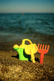 Games on the beach. Toys Stock Photo