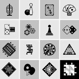 Games Black Icons Set Royalty Free Stock Photo