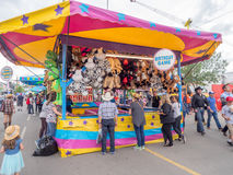 Games booth at the the Calgary Stampede Royalty Free Stock Photography