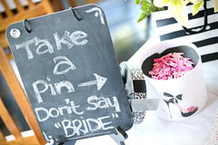 Games at a bridal shower. Party Royalty Free Stock Photography