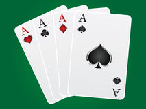 Games card aces Royalty Free Stock Image