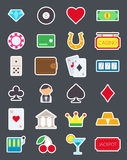 Games of chance   icons set. Set of 24 games of chance   icons Stock Photography