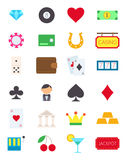 Games of chance  icons set. Set of 24 games of chance  icons Stock Images