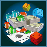 Games of chance Royalty Free Stock Photography