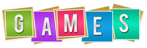 Games Colorful Blocks Royalty Free Stock Images
