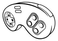 Games Controller. A console video games controller pad icon Royalty Free Stock Images