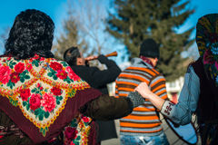 Games and dances during Mummers fest in Bulgaria Stock Photography