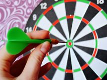 Games with Darts entertainment for people Royalty Free Stock Images