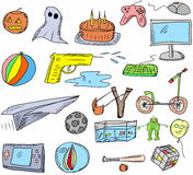 Games doodle set Royalty Free Stock Photography