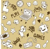 Games doodle set. royalty free stock photography