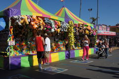 Games at the Fair or Carnival Royalty Free Stock Image