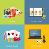 Games flat set Stock Images
