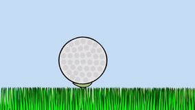 Games of gods - space golf. Animated cartoon Space golf. Cartoon movie about golf on the Earth and Earth like golf ball vector illustration
