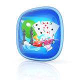 Games icon 3d. Hi-res digitally generated image Royalty Free Stock Photo
