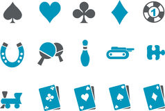 Games Icon Set Royalty Free Stock Image