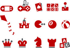 Games Icon Set Stock Photography