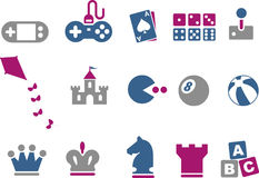 Games Icon Set Stock Photo