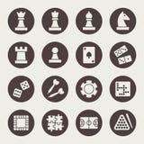 Games icon set. Vector illustration Stock Photo
