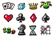 Games Icons. Vector hand-drawn color icons Stock Image