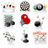 Games icons Royalty Free Stock Photography