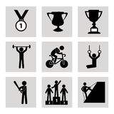 Games icons Stock Photography