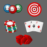 Games icons. On a gray background Royalty Free Stock Photo