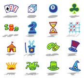 Games icons set Stock Photo