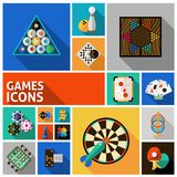 Games Icons Set Royalty Free Stock Image