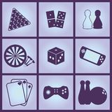 Games Icons. Set of Icons on a theme Games Stock Photos
