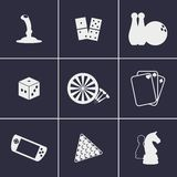 Games icons Royalty Free Stock Photo