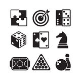 Games icons set Stock Photos